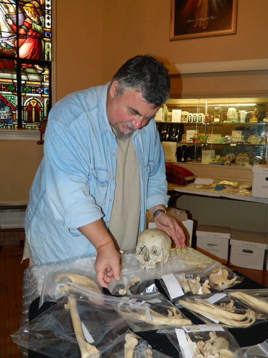 Philip DiBlasi makes a livelyhood by puzzling bones for the Vatican priesthood.