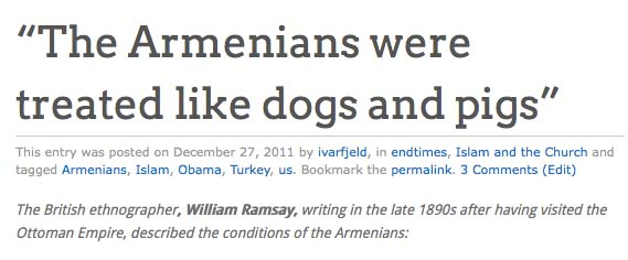 The Muslims acted like Nazis in their slaughter of Armenian Christians.