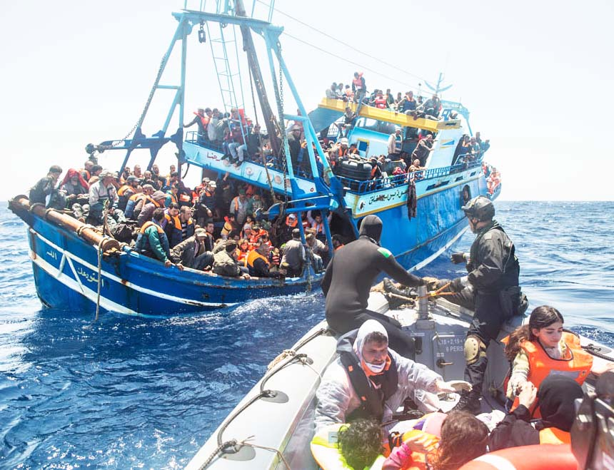 Christians are martyred in the Muslim world. Also at sea during their bid to escape the horrors.