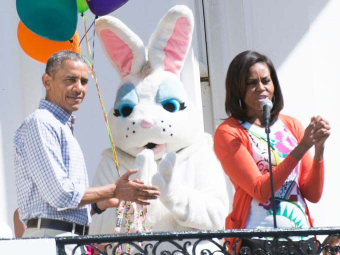 Barack Hussein and Michelle Obama mixes paganisem into a Biblical festival.