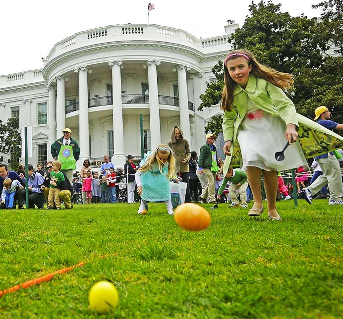 The children in the White House garden are lead into paganism instead of truth during the festival of Easter.