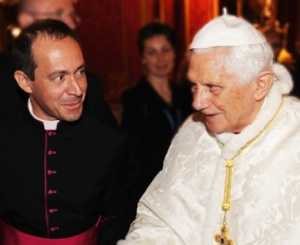 Monsignor Antoine Camilleri with his former