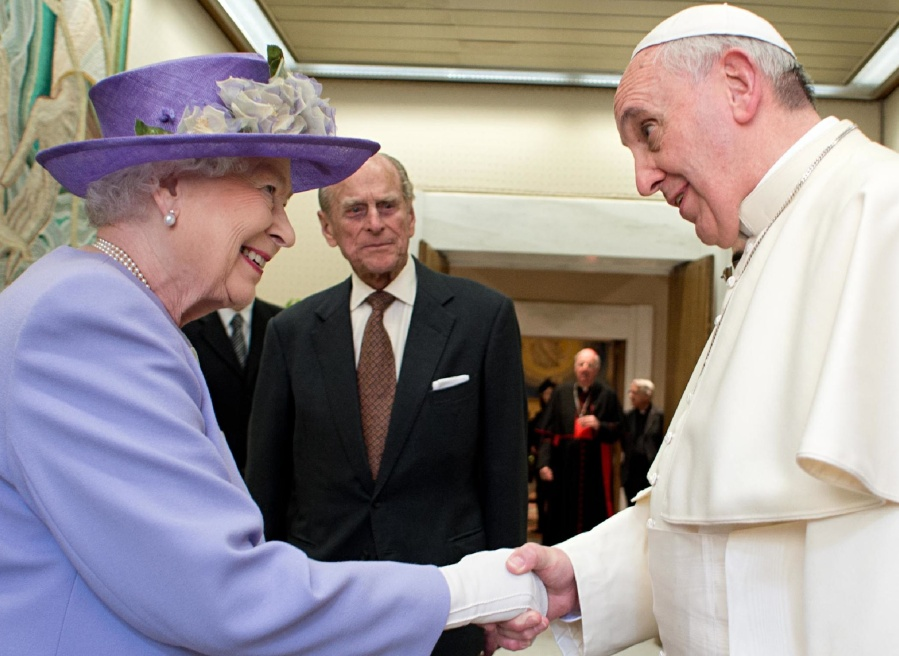 The Queen of England and the Popeof Rome  both represent false Christiaity.