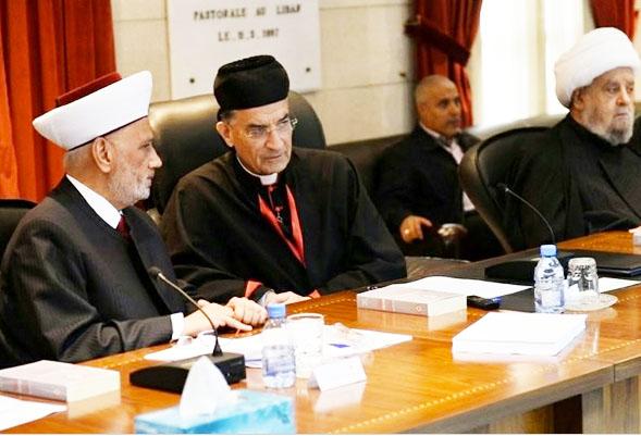 Maronite Patriarch Beshara Rai host a religious sumit in Lebanon.