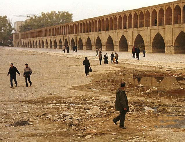 The Zayanderud in Isfahan.. In Iranian