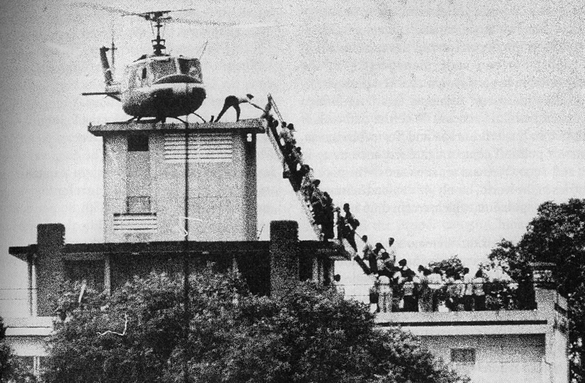 29th of April 1975. The last Vietnamese servant of the Pentagon leaves Saigon.