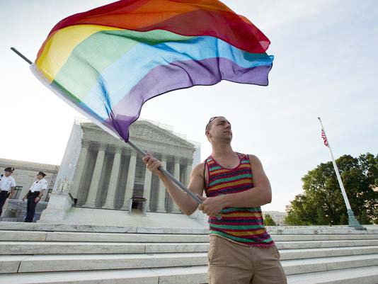 The gay lobby in the US celebrate a phyrox victory, that will lead the whole nation down the path towards destruction.