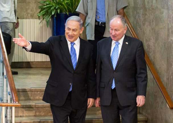 Benjamin Netanyahu use stern language in his meeting with the Canandian PM