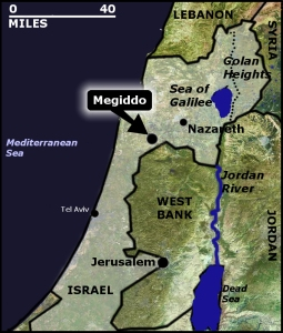 The Pope traveled into Israel by he fields of Armageddon. (Megideo)