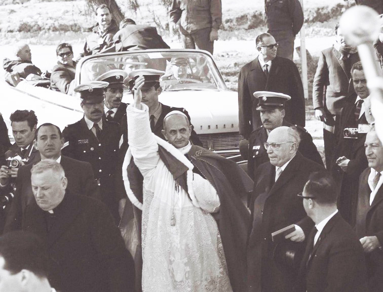 Pope Paul VI brough condemnation on him self in 1964, entering Israel through the fields of  Armageddon.