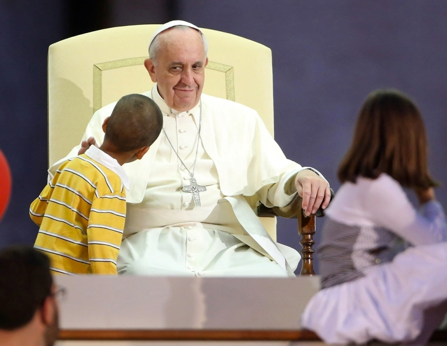 Please keep your children away from the Pope, so he can not misguide them.