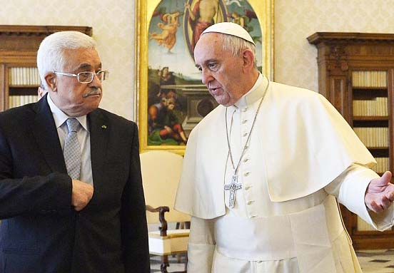 The Pope and Abu Mazen do work for the same 'lord'. Surley not God of the Bible.