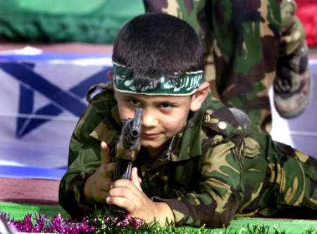 Arab children are cursed by their PLO parents, who teach them how to slaughter Jews.