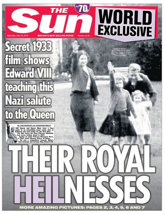 There was a massive support for Nazism in Europe. The support included the Royal family in England.