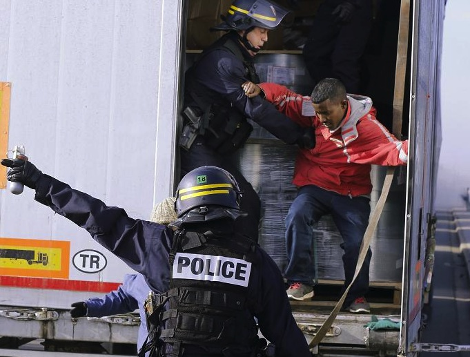 The dream of a sweet life in London ended when the police raided this truck in France.