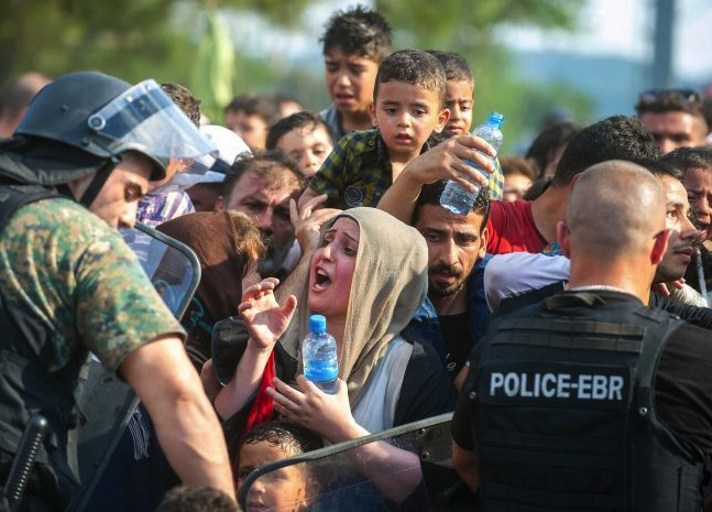 Desprate Muslims are trying to get across and into the Balkans.