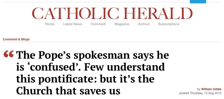 This editor is as confused as the Pope, thiniking his church will save him.