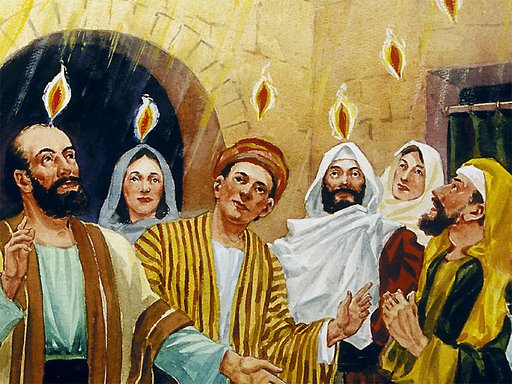 To be able to preach to non-Jews, the apostles were enabled by the Holy Spirit.