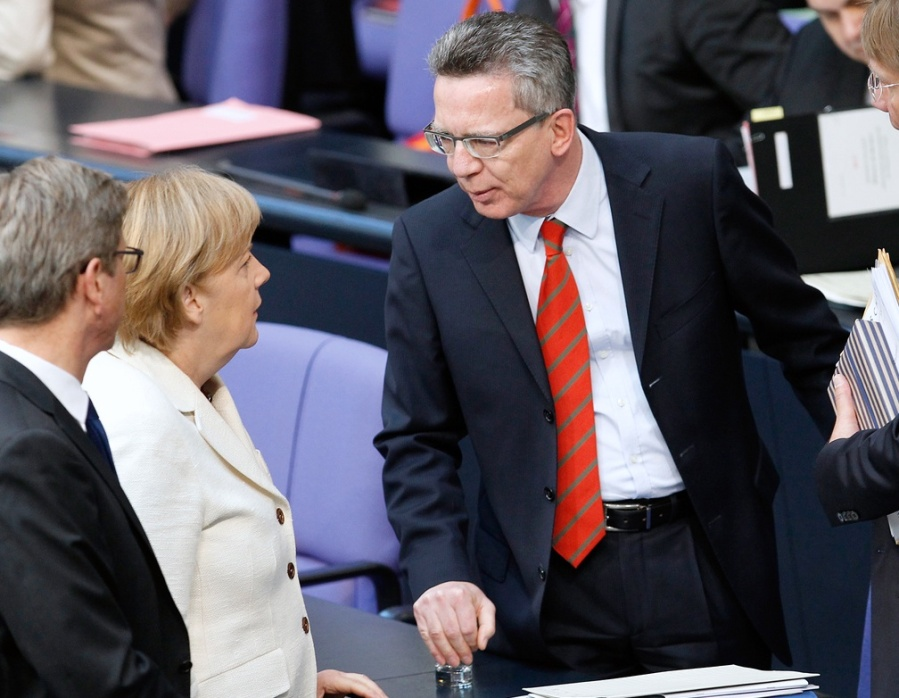German Interior Minister Thomas de Maiziere and Angela Merkel have got more Muslims to handle than they can cope with.