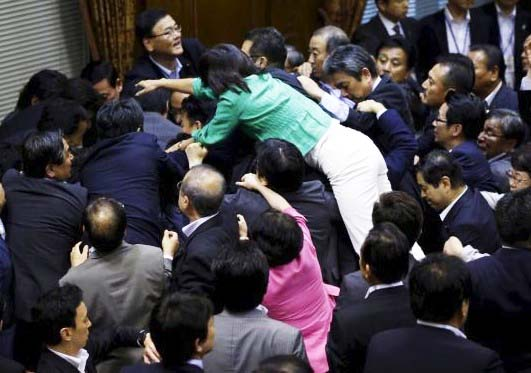 This Japaneese politician tries to come on top of the problem.