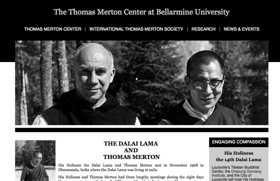 The website promoting Thomas Merton hails the head of the Buddhists.