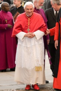 Pope Benedict and his read shoes.
