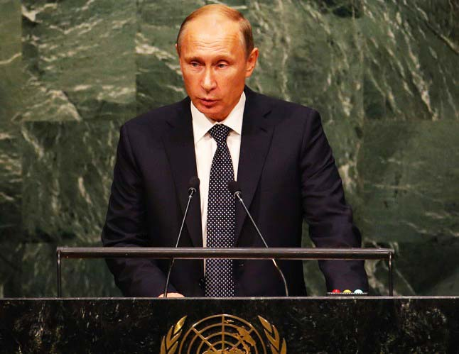 Vladimir Putin accuses Washington D.C for suplying Islamic terrorists in Syria.