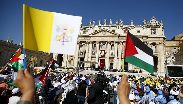 The Vatican and the PLO has jointly got their flag hoisted at the UN