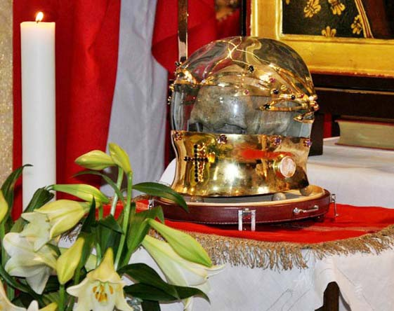The skull gets a center place at the altar, to be used for worship.