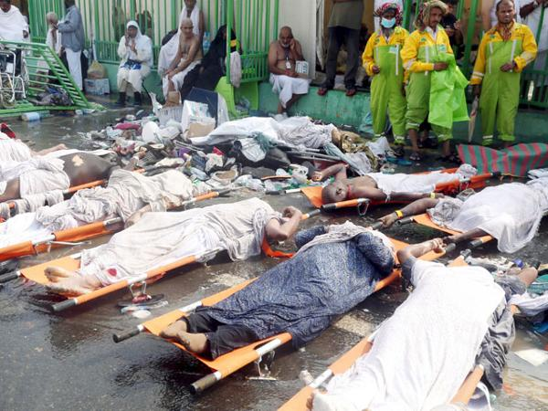 "They faced a horrific death as they came to worship 'god"" in Mecca."