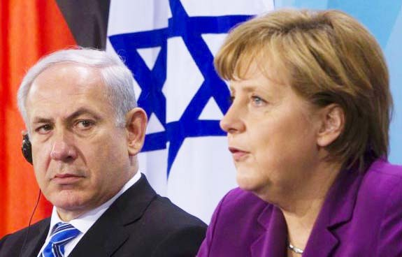 Benjamin Netanyahu call the shoot just before a visit to Angela Merkel in Germany.