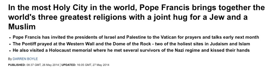 Even the secular Daily Mail in the UK was impressed by the Pope.