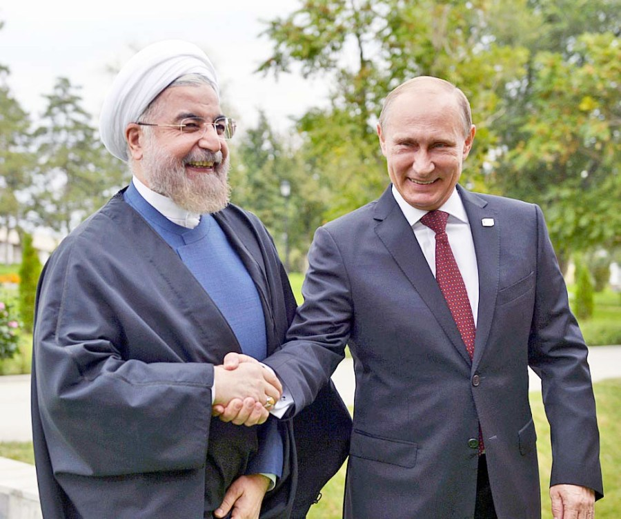 Putin gives Iranian President Hassan Rouhani access to the border with Israel.