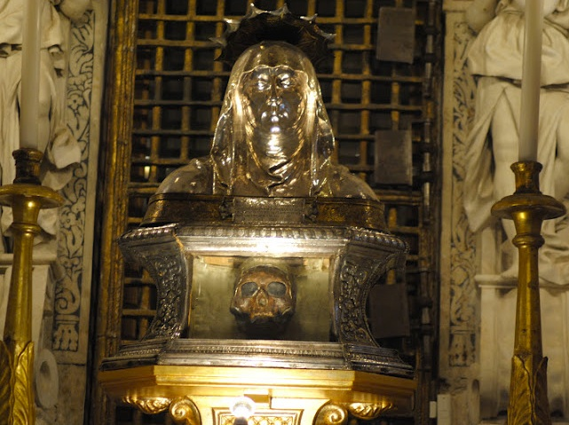Roman Catholics in Italy claim this skull is of the grandmother of Jesus.