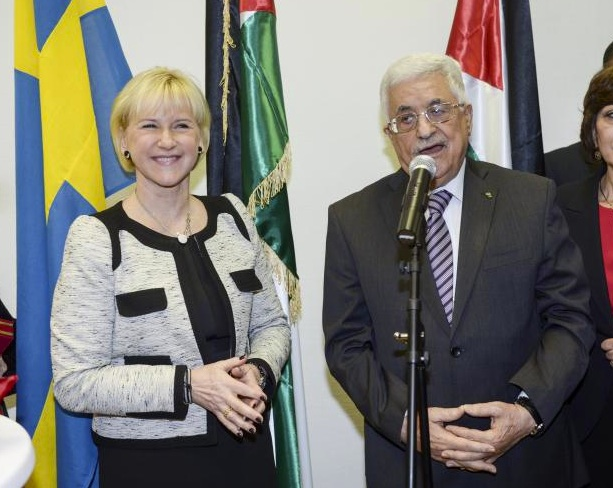 Margot Wallström and PLO boss Mahmoud Abbas agree that Israel is behind Islamic terrorism.