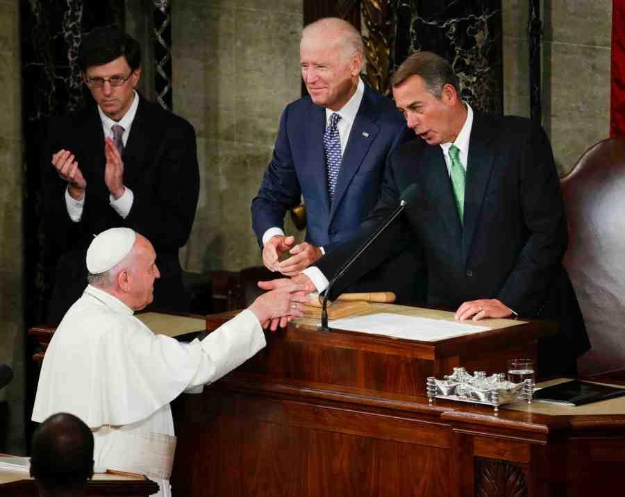 Pope Francis, John Boehner, Joe Biden