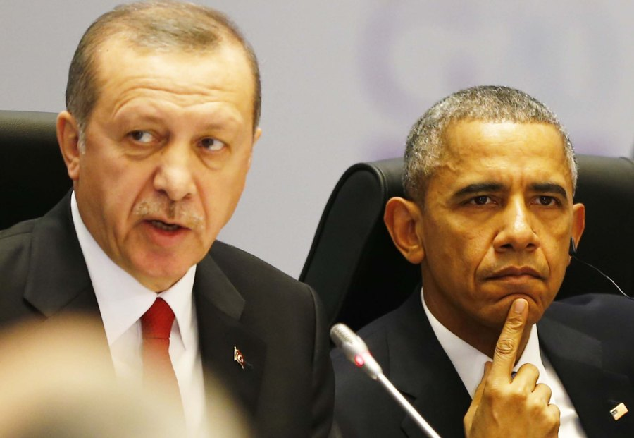 Turkey's President Erdogan and U.S. President Obama attend working session at G20 summit  in Antalya